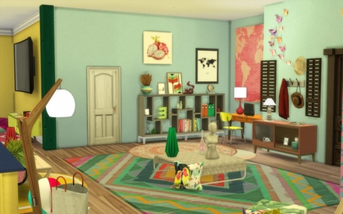 Sims 4 Tropic apartment by Bloup at Sims Artists