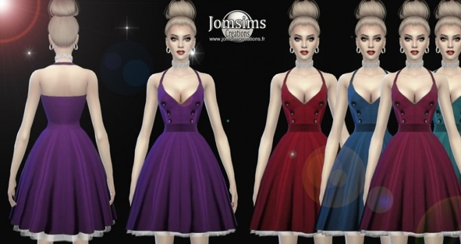 Dessi dress at Jomsims Creations image 668 670x355 Sims 4 Updates