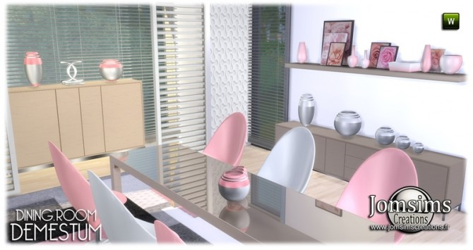 Demestum dining room in 4 shades at Jomsims Creations image 6710 670x355 Sims 4 Updates
