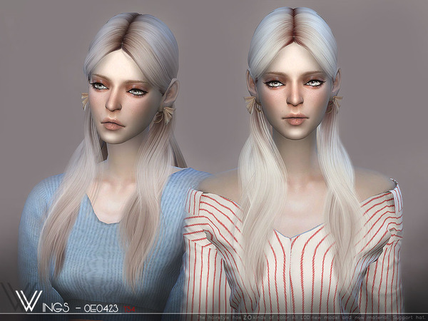 Hair OE0423 by wingssims at TSR image 6712 Sims 4 Updates