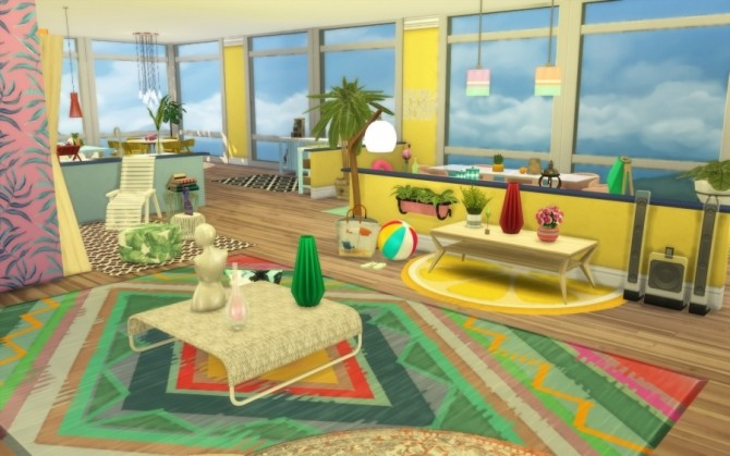 Tropic apartment by Bloup at Sims Artists image 677 670x419 Sims 4 Updates