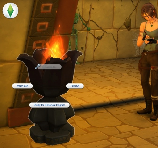 Sims 4 Tulip fireplace for temple by Sri at Mod The Sims
