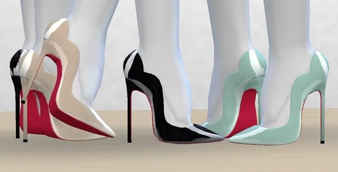 Sims 4 130mm heeled pumps by MrAntonieddu at MA$ims4