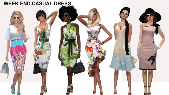 Week end dress collection (P) at Rhowc image 684 670x377 Sims 4 Updates