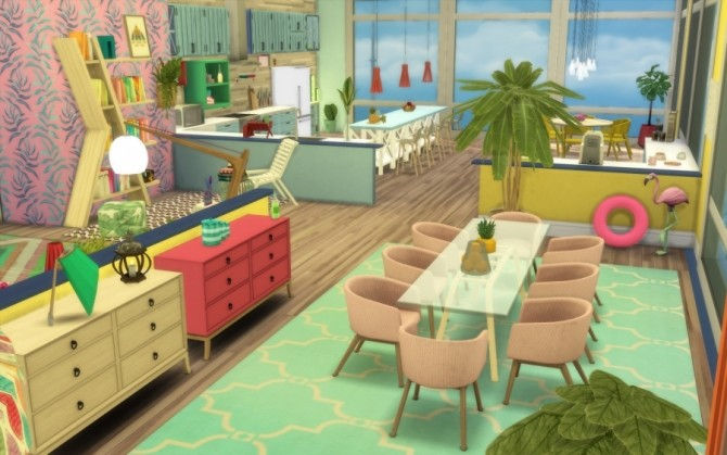 Tropic apartment by Bloup at Sims Artists image 686 670x419 Sims 4 Updates