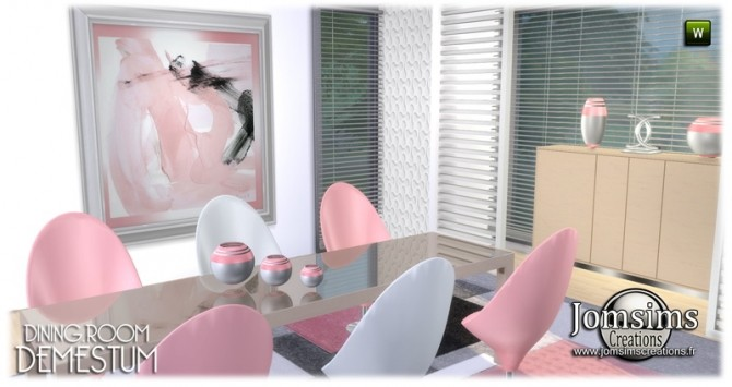 Demestum dining room in 4 shades at Jomsims Creations image 689 670x355 Sims 4 Updates