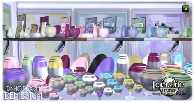 Demestum dining room in 4 shades at Jomsims Creations image 6911 670x355 Sims 4 Updates