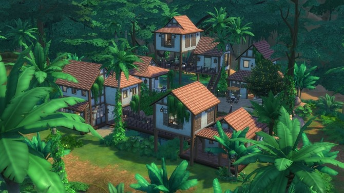 Sims 4 Tropical Manor by rayunemoon at Mod The Sims