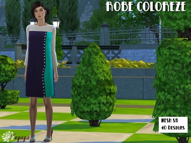 Coloreze dress by Fuyaya at Sims Artists image 7015 670x503 Sims 4 Updates