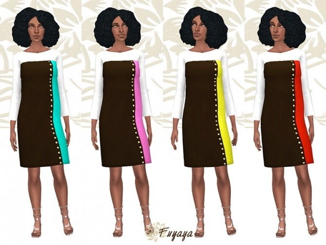 Coloreze dress by Fuyaya at Sims Artists image 7119 670x503 Sims 4 Updates
