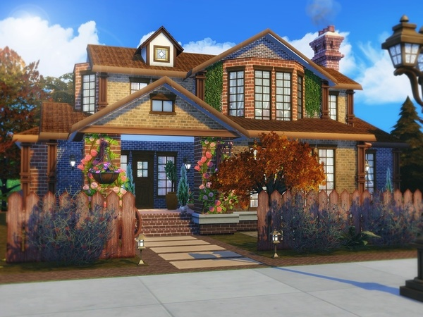 Red Leaves house by MychQQQ at TSR image 727 Sims 4 Updates