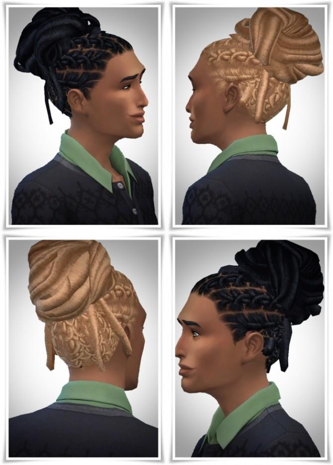 Sims 4 Cool Dread Knot Hair M/F at Birksches Sims Blog