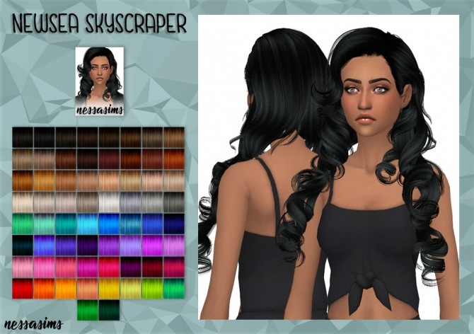 Newsea SkyScrapers Hair retextures at Nessa Sims image 7415 670x472 Sims 4 Updates