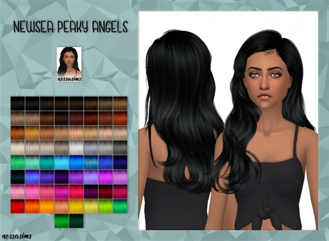 Sims 4 Newseas Peaky Angels Hair retexture at Nessa Sims