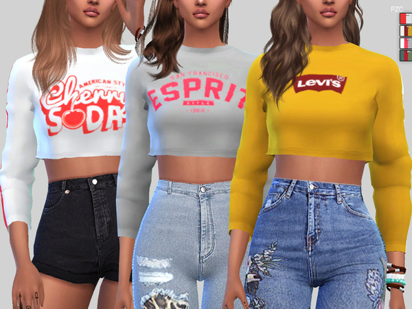 Sims 4 Sporty Sweatshirts Collection by Pinkzombiecupcakes at TSR