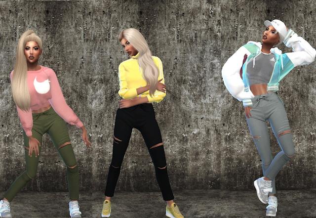 Capri Pencil Pants at Teenageeaglerunner image 767 Sims 4 Updates