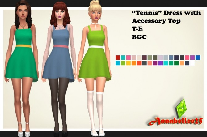 Accessory Top for Tennis Dress by Annabellee25 at SimsWorkshop image 769 670x443 Sims 4 Updates