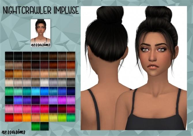 Sims 4 Nightcrawler impluse hair retexture at Nessa Sims