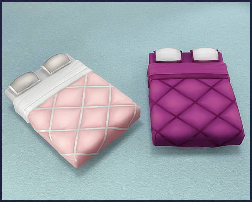 Sims 4 Mattress Knuffelig & Puffelig at CappusSims4You