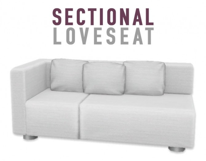 Sectional Loveseat at SimPlistic image 795 670x525 Sims 4 Updates