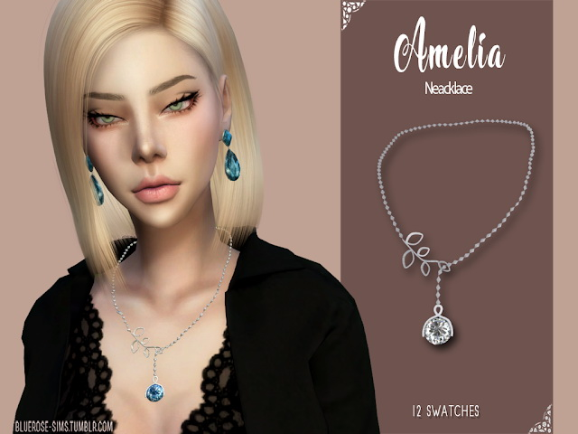 Amelia Necklace by Liseth Barquero at BlueRose Sims image 797 Sims 4 Updates