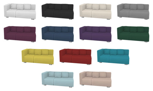 Sectional Loveseat at SimPlistic image 804 Sims 4 Updates