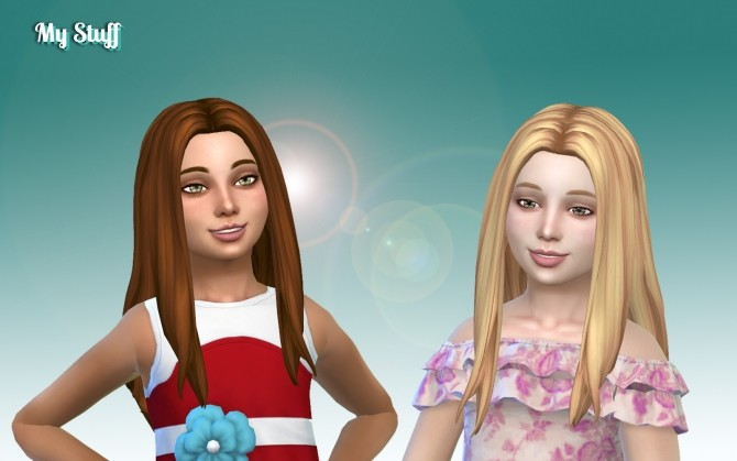 Sims 4 Liliana Hairstyle for Girls at My Stuff