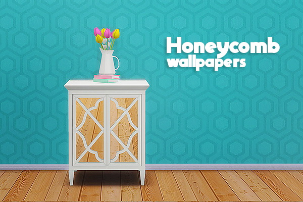 Sims 4 Honeycomb wallpapers at Lina Cherie