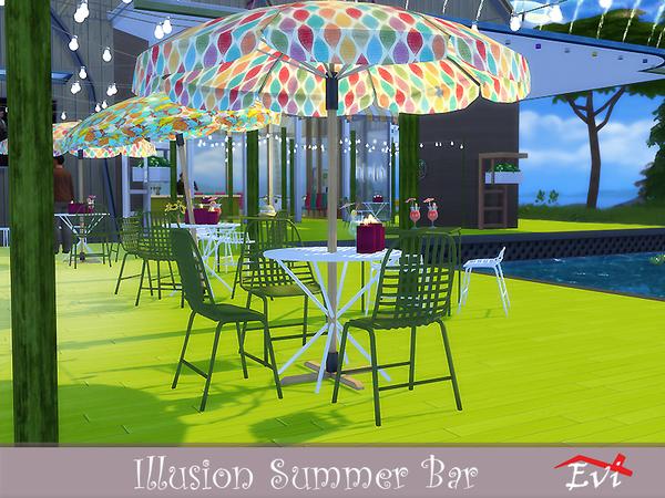 Sims 4 Illusion Summer Bar by evi at TSR