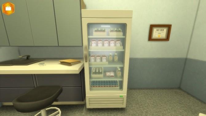 Sims 4 Fridge for hospital by Séri at Mod The Sims