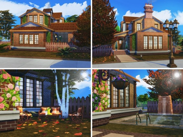 Red Leaves house by MychQQQ at TSR image 827 Sims 4 Updates