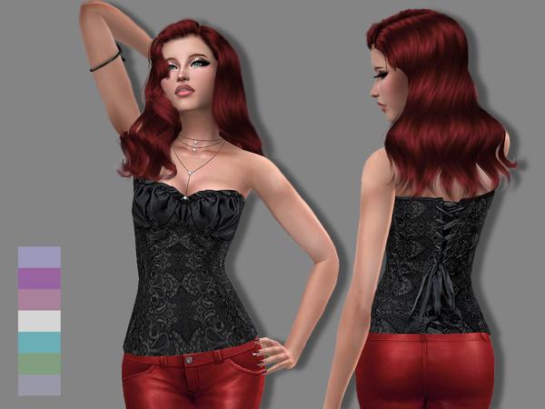 Sims 4 Fanny corset by Simalicious at TSR