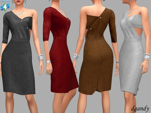 One Sleeve Dress by dgandy at TSR image 853 Sims 4 Updates