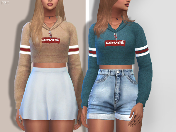 Sporty and Everyday Hoodie by Pinkzombiecupcakes at TSR image 860 Sims 4 Updates