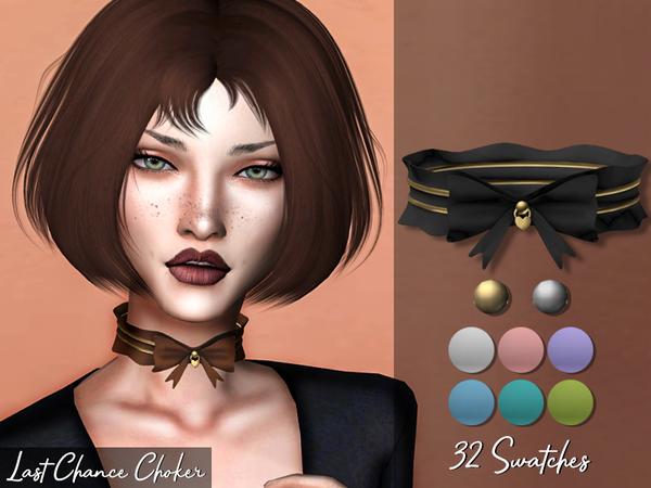 Sims 4 Last Chance Choker by Genius666 at TSR