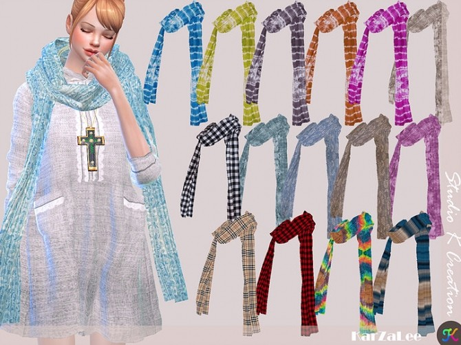 Simple long scarf at Studio K Creation image 868 670x502 Sims 4 Updates