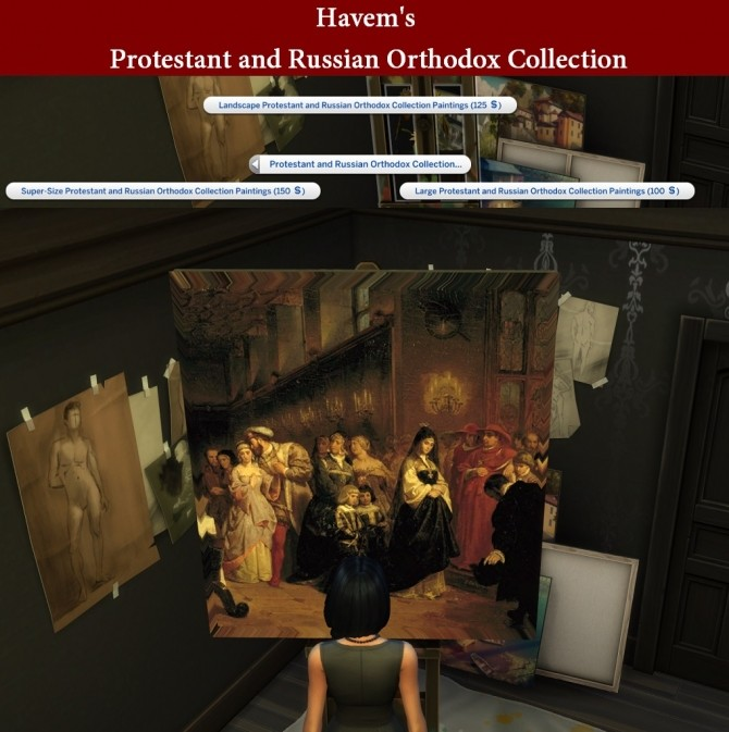 New Art Collection for easel with Protestant and Russian Orthodox paintings by Havem at Mod The Sims image 87 670x673 Sims 4 Updates