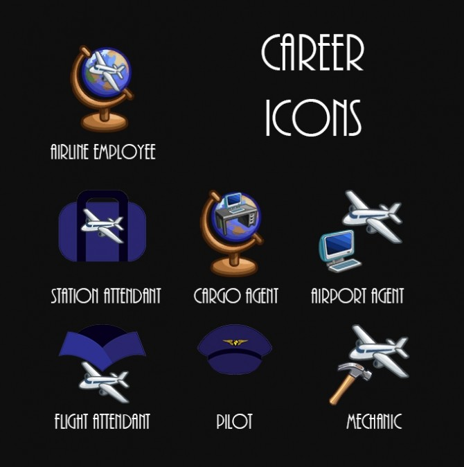 Airline Employee 6 Career Tracks by Simmiller at Mod The Sims image 875 670x674 Sims 4 Updates
