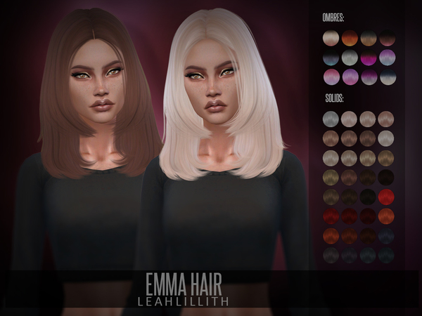 Emma Hair by Leah Lillith at TSR image 883 Sims 4 Updates