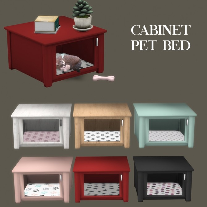 Sims 4 Cabinet Pet Bed at Leo Sims