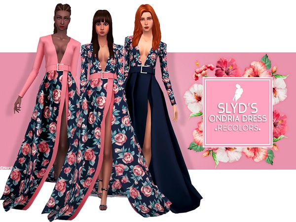 Sims 4 Ondria Dress Recolor by Nords at TSR