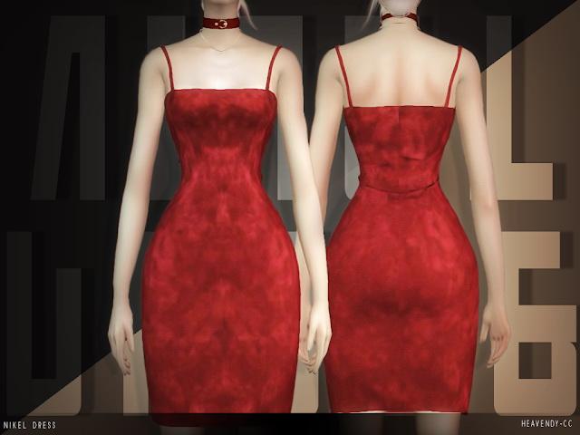 Sims 4 Nikel Dress at Heavendy cc