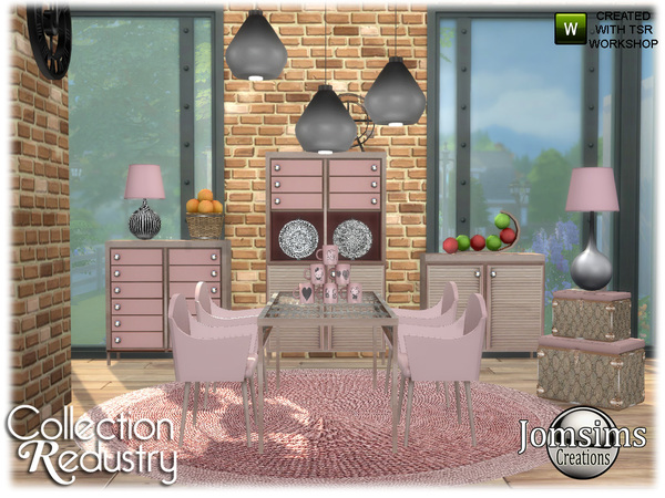 Redustry dining room by jomsims at TSR image 903 Sims 4 Updates
