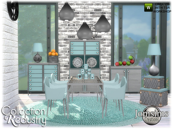 Redustry dining room by jomsims at TSR image 914 Sims 4 Updates