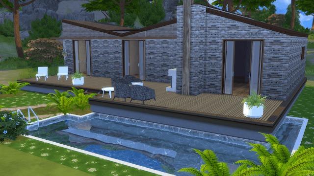 Sims 4 Modern Holiday Home at Dinha Gamer