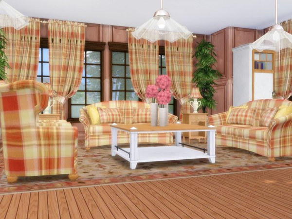 Red Leaves house by MychQQQ at TSR image 920 Sims 4 Updates