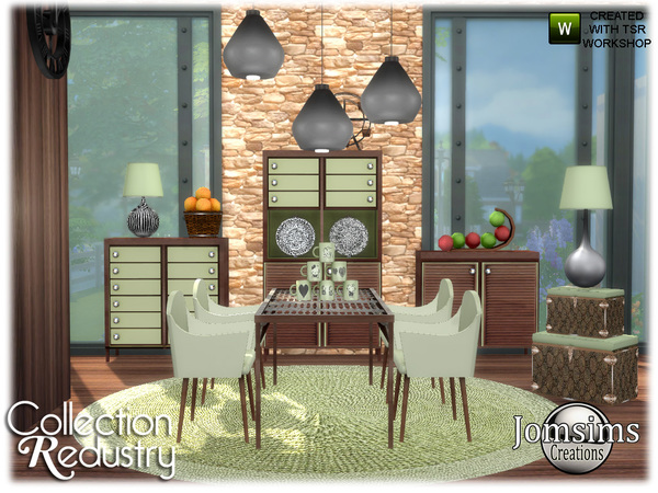 Redustry dining room by jomsims at TSR image 923 Sims 4 Updates