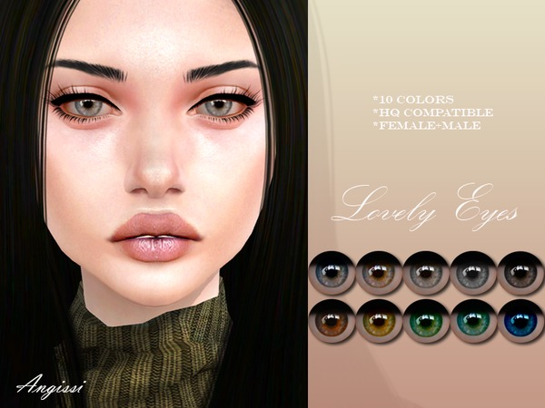 Lovely eyes by ANGISSI at TSR image 924 Sims 4 Updates