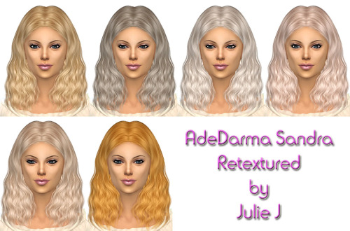 Sims 4 AdeDarma Sandra Hair Retextured at Julietoon – Julie J