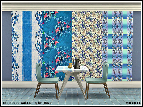 The Blues Walls by marcorse at TSR image 9314 Sims 4 Updates